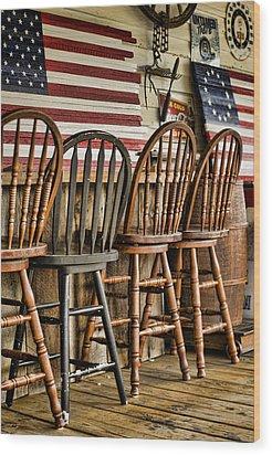 Americana Wood Print by Heather Applegate