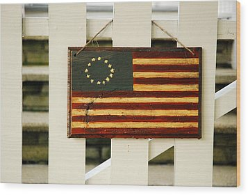 Wood Print featuring the photograph Americana by James Kirkikis