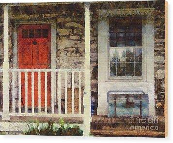 Americana Wood Print by Janine Riley