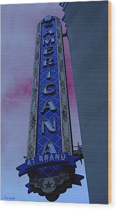 Wood Print featuring the photograph Americana Vintage Landmark Sign_3 by Renee Anderson