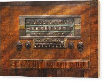 Americana - Radio - Remember What Radio Was Like Wood Print by Mike Savad