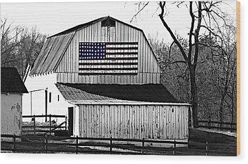 Americana Wood Print by Trish Clark