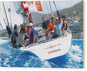 Americas Cup Racing At St. Martin Wood Print
