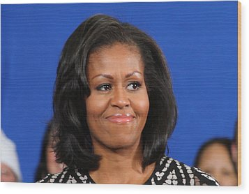 America's First Lady Wood Print by Mike Stouffer