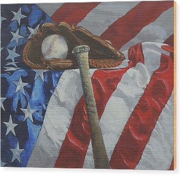 America's Game Wood Print
