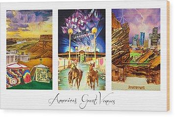 America's Great Venues Wood Print by Joshua Morton