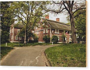 America's Oldest Inn Longfellow's Wayside Inn In Sudbury Massachusetts Wood Print