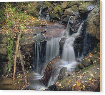 Amicalola Waterfall Wood Print
