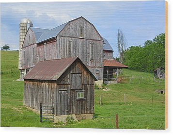 Amish Barn #2 - Woodward Pa Wood Print