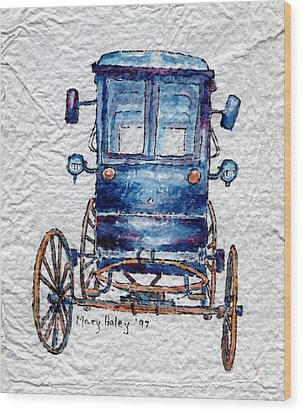 Amish Cart Wood Print by Mary Haley-Rocks