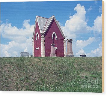 Wood Print featuring the photograph Amish Cemetery by Gena Weiser