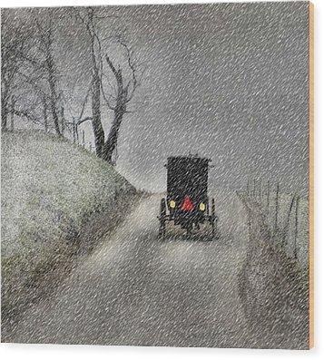 Amish Christmas Wood Print