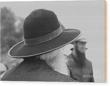 Amish Faces Wood Print by Mary Carol Story