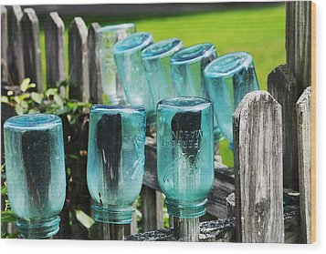 Amish Fence Wood Print by William Rockwell