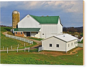 Amish Living Wood Print by Frozen in Time Fine Art Photography