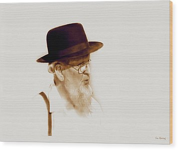 Amish Man  Wood Print