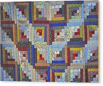Amish Quilt Wood Print by Wendell Thompson