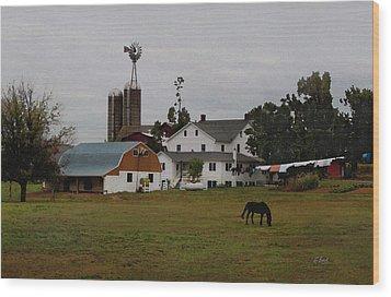 Amish Wash Day Wood Print by Gordon Beck