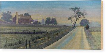 Amish Way Wood Print