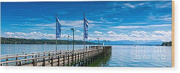 Ammersee - Lake In Bavaria Wood Print by Juergen Klust