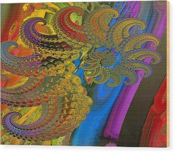 Ammonite 4 Wood Print by Soumya Bouchachi