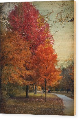 Among The Maples Wood Print by Jessica Jenney