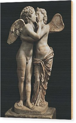 Amor And Psyche. 1st C. Hellenistic Wood Print by Everett