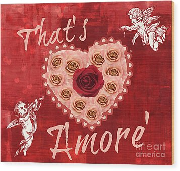 Amore Valentine Wood Print by Mindy Bench