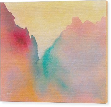 Wood Print featuring the painting Amorphous 50 by The Art of Marsha Charlebois