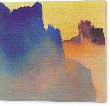 Amorphous 60 Wood Print by The Art of Marsha Charlebois