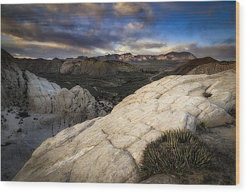 Amphitheater Of Snow Canyon Wood Print by Nick Oman