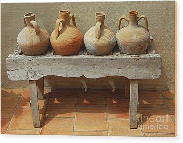 Amphoras  Wood Print by Elena Elisseeva