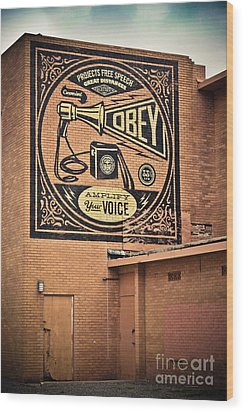 Amplify Your Voice Wood Print by Colleen Kammerer