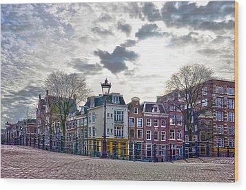 Amsterdam Bridges Wood Print