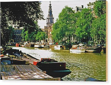 Wood Print featuring the photograph Amsterdam by Ira Shander