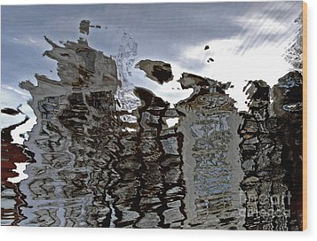 Wood Print featuring the photograph Amsterdam Reflections 2 by Andy Prendy