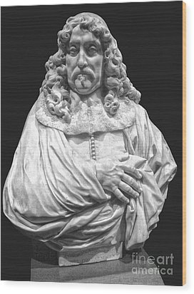 Amsterdam Rijksmuseum Classic Bust - 09 Wood Print by Gregory Dyer