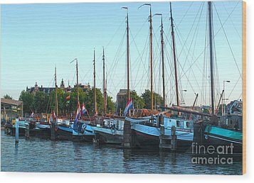 Amsterdam Sailing Ship - 06 Wood Print by Gregory Dyer
