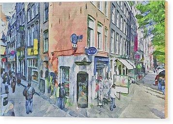 Amsterdam Streets 3 Wood Print by Yury Malkov
