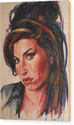 Amy Wood Print by Tachi Pintor