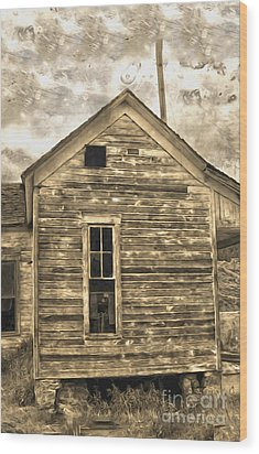 An Abandoned Old Shack Wood Print by Gregory Dyer