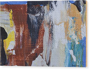 Wood Print featuring the painting An Abstract Sort Of Weekend by Heidi Smith