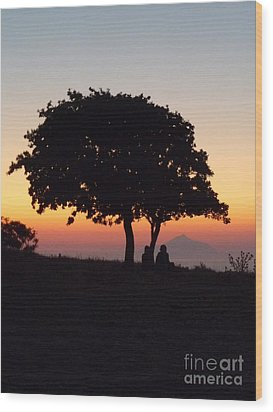 Wood Print featuring the photograph An African Sunset by Vicki Spindler
