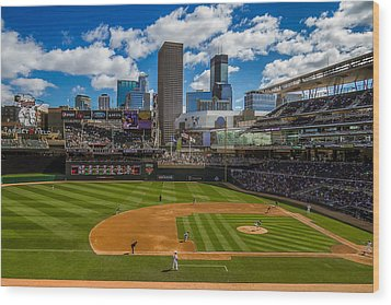 An Afternoon At Target Field Wood Print