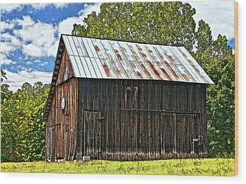 An American Barn 2 Painted Wood Print by Steve Harrington