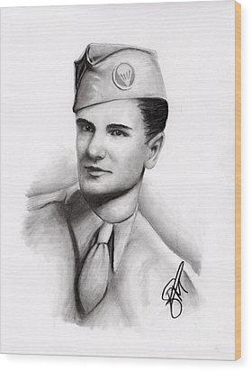 An American Hero Wood Print by Rosalinda Markle