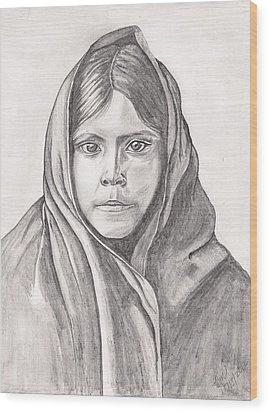 An Apache Daughter Wood Print