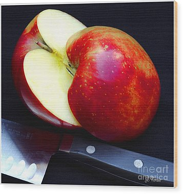 An Apple A Day Wood Print by James C Thomas