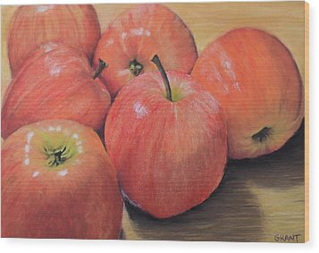 An Apple A Day Wood Print
