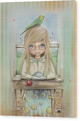An Apple A Day Wood Print by Karin Taylor